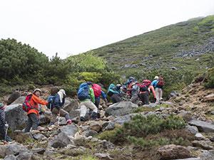 The opening of Mt.Tokachidake to climbers