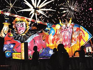 카미 후라노 꽃과 불꽃의 사계절을 장식 축제